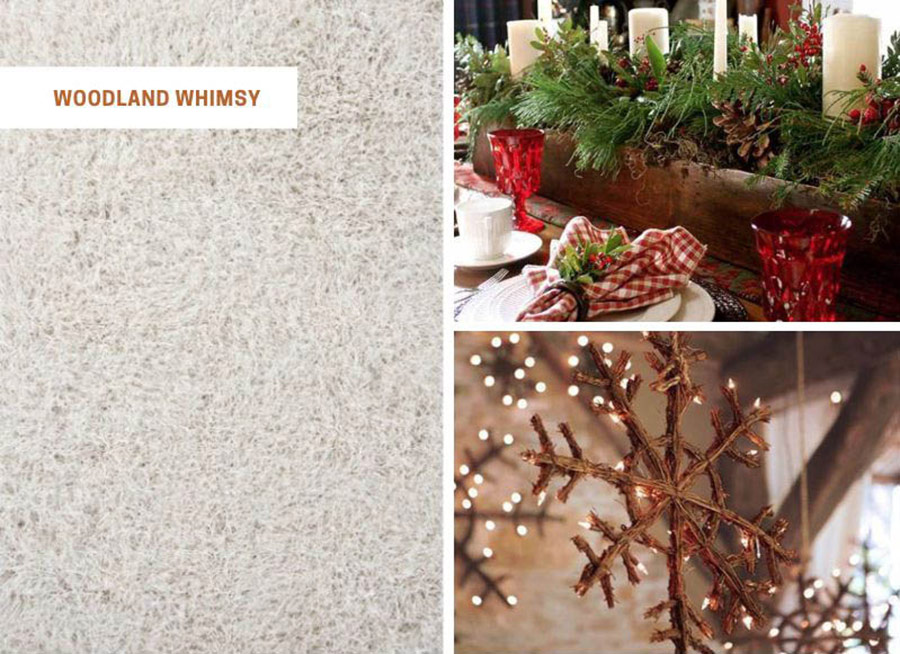 Woodland Whimsy cozy holiday area rugs