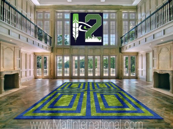 Seahawks 12 And An Area Rug To Match In Blue And Green