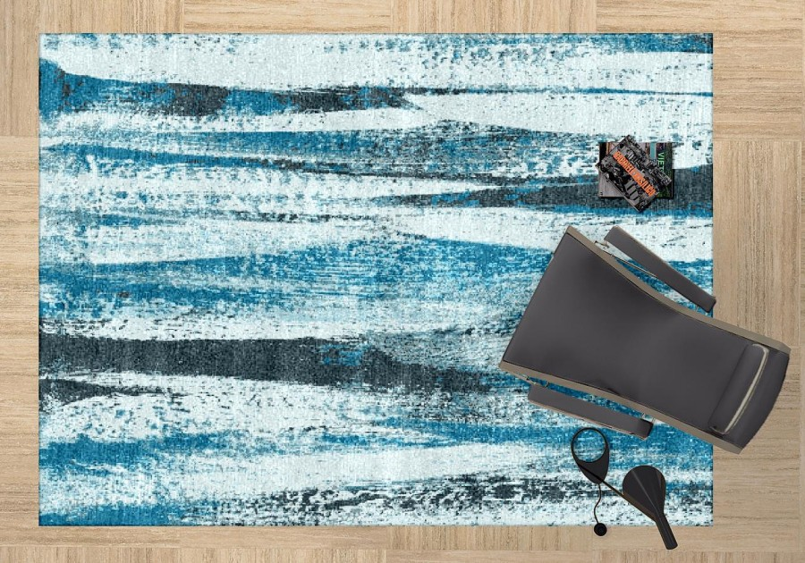 3rd and Wall | ULAV-157: Blue/Grey area rug
