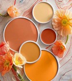 Do you dare to decorate with these gorgeous oranges? Paint image courtesy of Better Homes and Garden.