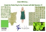 Green With Envy... create the perfect rug for any occasion with Mafi Signature 16 custom rugs